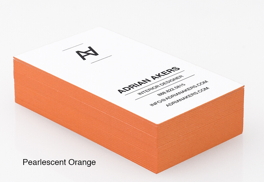 Painted Edge Business Cards - Colored Edge Business Cards | Primoprint