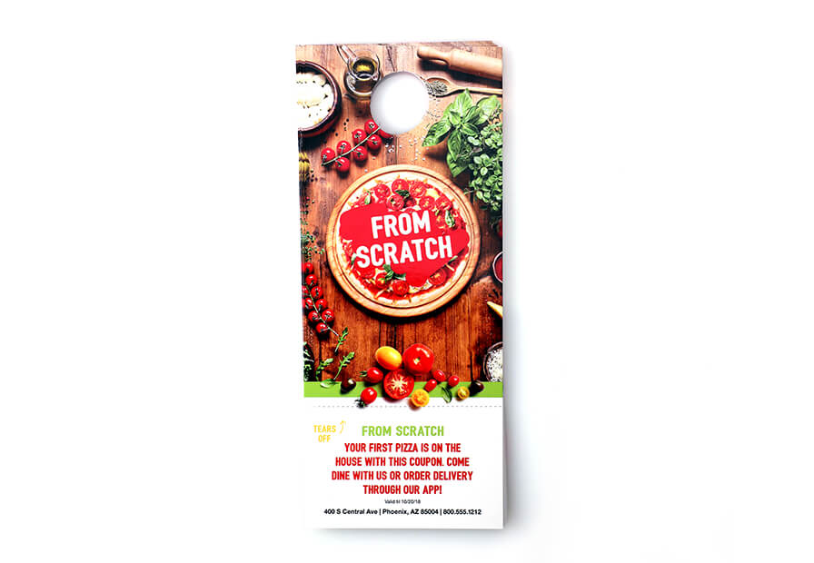 Choose a finish or style to view product pricing and options Glossy UV Coated Door Hangers  sc 1 st  Primoprint & Door Hanger Printing - High-Quality Custom Door Hangers | Primoprint