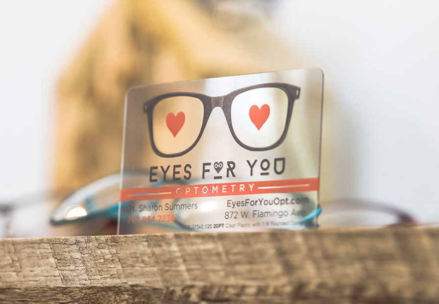 Custom plastic cards business gift vip cards primoprint 20pt clear make a statement with a clear business cards reheart Image collections
